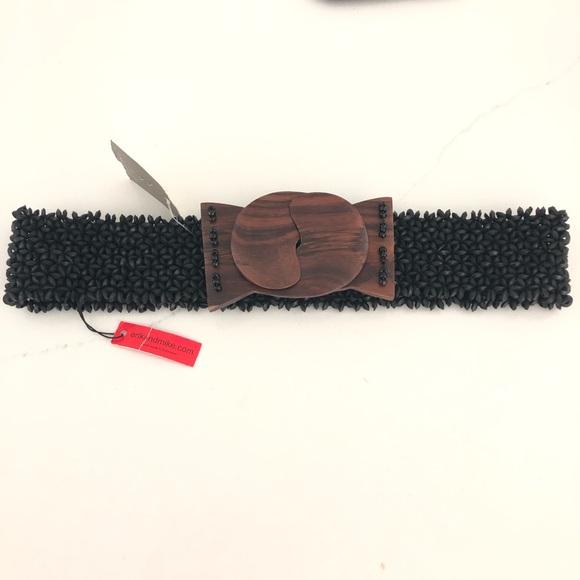 Anthropologie Accessories - Anthropologie Erik& Mike Stretchy Wood Beaded Belt